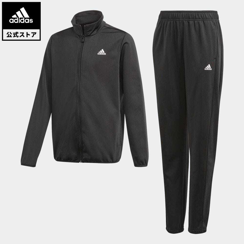 送料無料 エッセンシャルズ 公式 アディダス adidas 返品可 トラックスーツ ジャージセットアップ Essentials Track お気にいる セットアップ ブラック キッズ 買い物 ウェア Suit GN3974 服 ジャージ 黒 上下