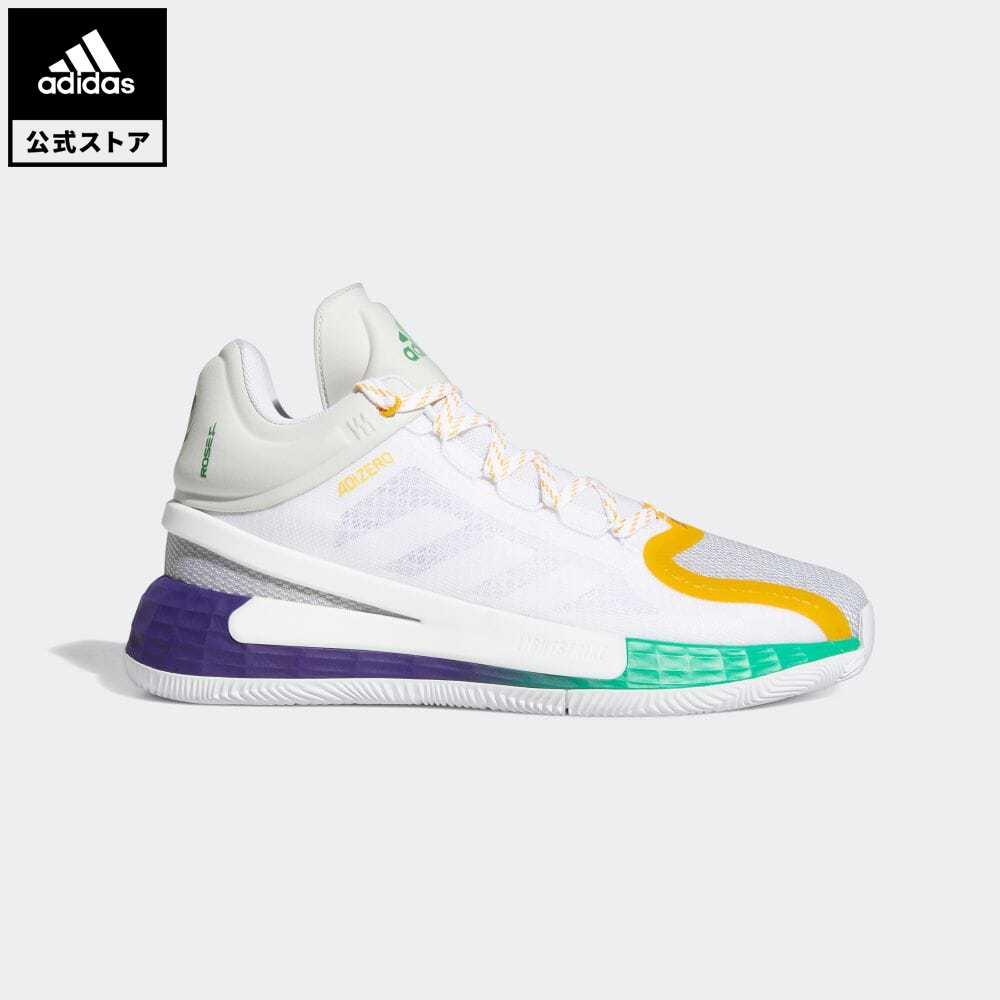 送料無料 公式セール 希少 セール価格 ローズ 公式 アディダス adidas 返品可 バスケットボール D 超人気 11 白 シューズ ROSE バッシュ FX7401 ホワイト スポーツシューズ メンズ 靴