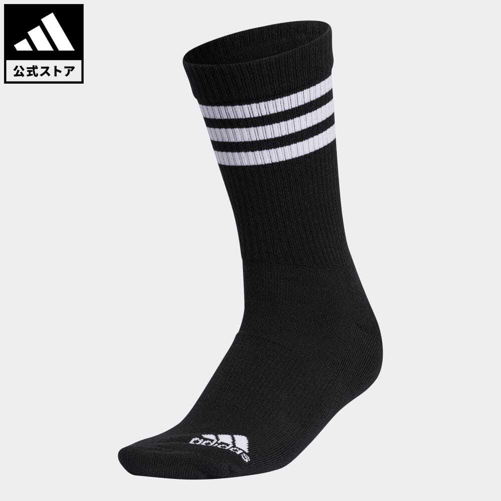 スリー ストライプス 公式 アディダス adidas 返品可 ゴルフ ウィメンズ スリーストライプ クルーソックス 3-Stripes セール 特集 GL8801 黒 Socks 贈呈 ブラック レディース 靴下 ソックス Crew notp アクセサリー