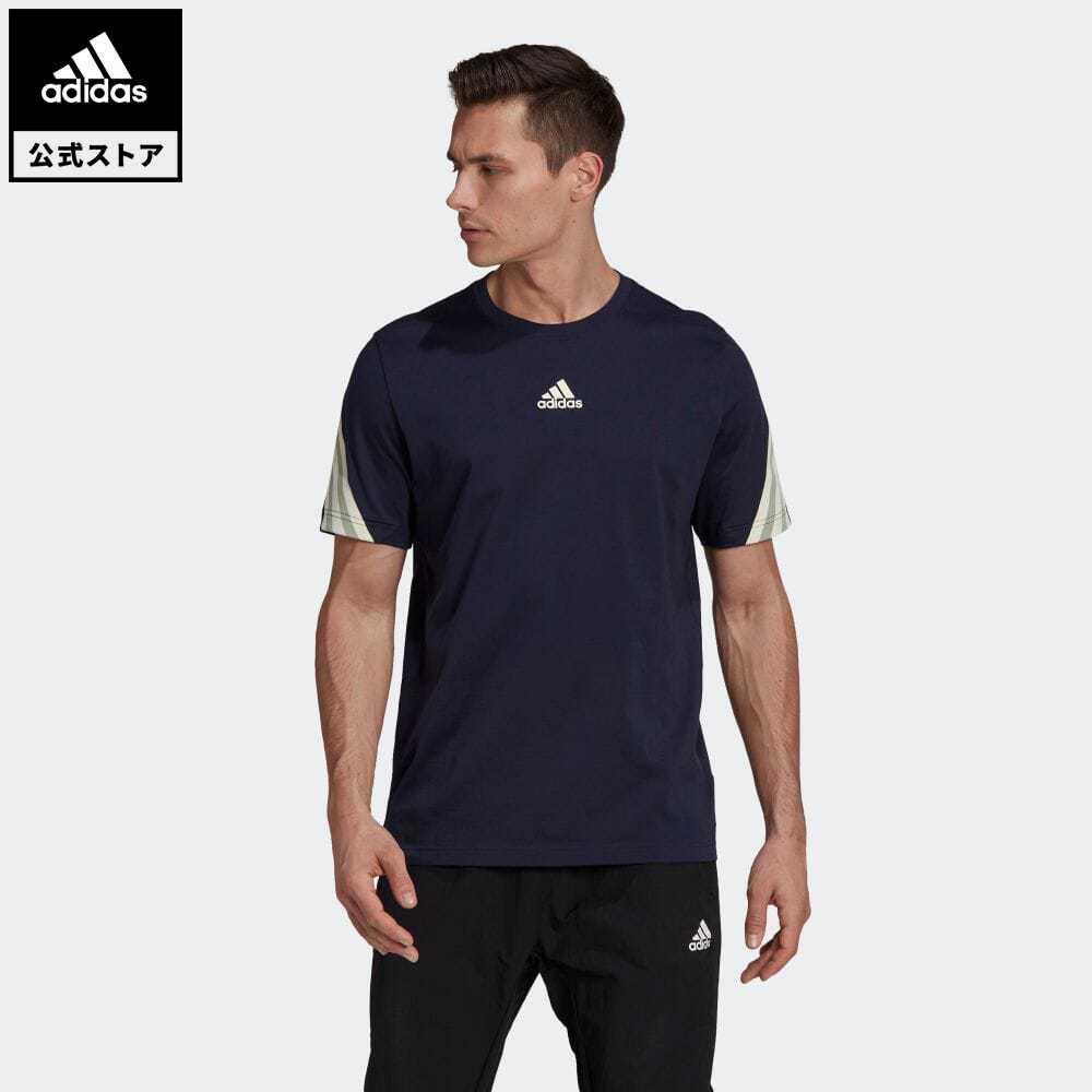 公式セール セール価格 スリー ストライプス 【公式】アディダス adidas 返品可 アディダス スポーツウェア 3ストライプス テープTシャツ / adidas Sportswear 3-Stripes Tape Tee アスレティクス メンズ ウェア・服 トップス Tシャツ 青 ブルー GP4119 半袖