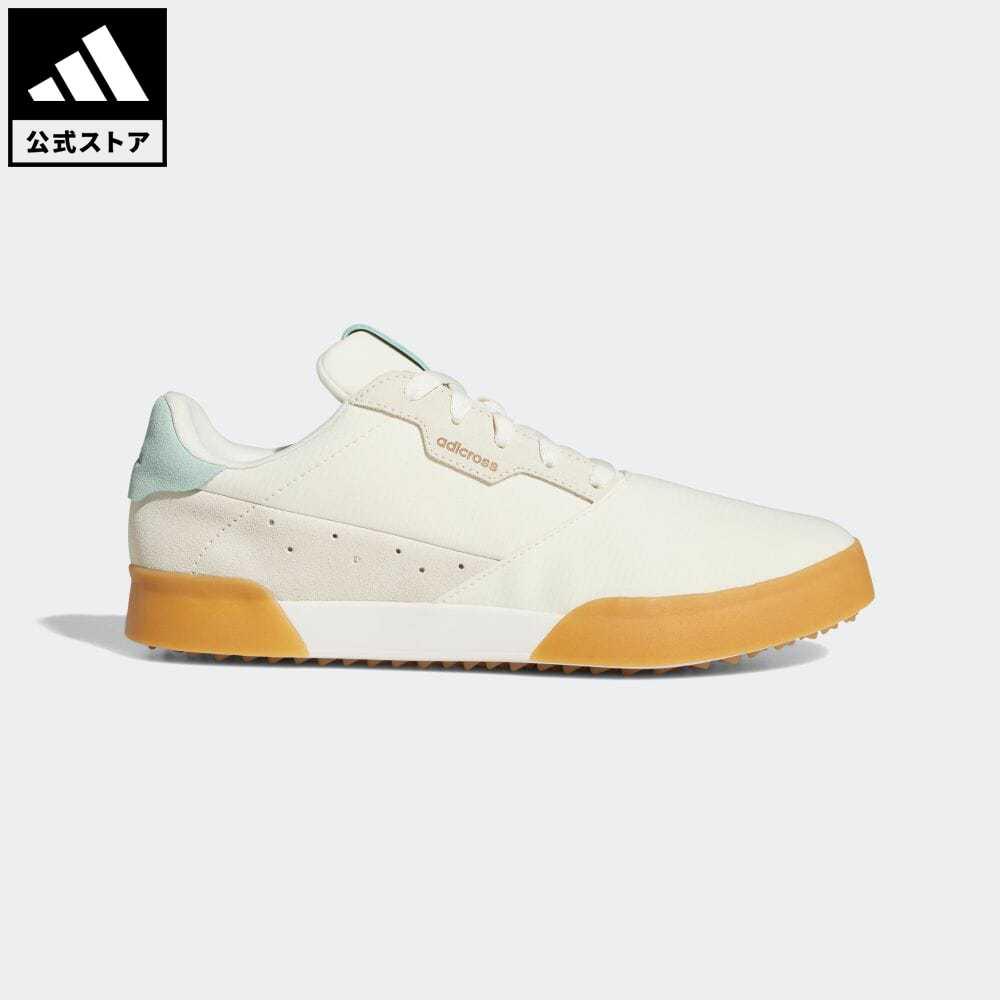 送料無料 期間限定特価品 アディクロスライン 公式 アディダス adidas 返品可 ゴルフ アディクロスレトロ Adicross Retro 靴 FW5610 Shoes 驚きの価格が実現 スポーツシューズ Spikeless メンズ 白 ホワイト シューズ notp