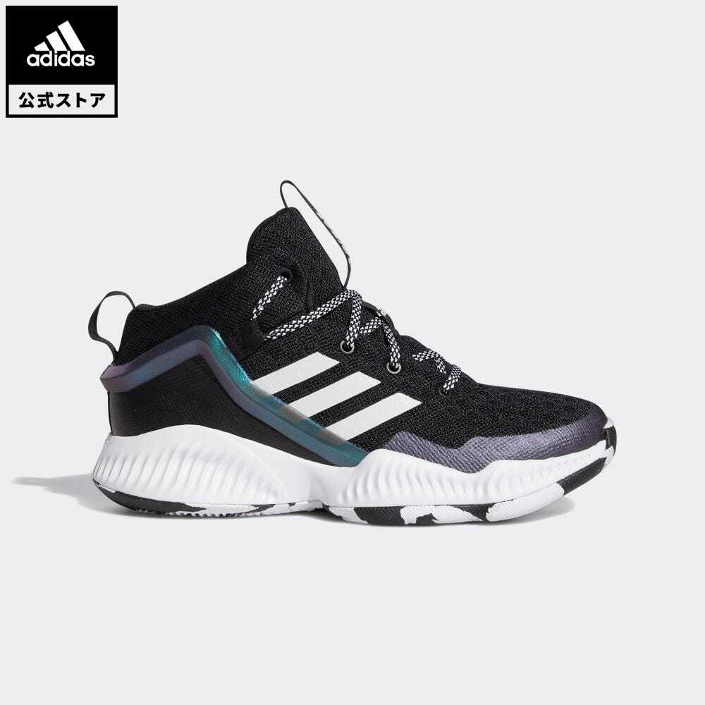 送料無料 公式セール セール価格 公式 アディダス adidas 返品可 バスケットボール ロックダウン 再再販 Lockdown スポーツシューズ ブラック バッシュ FZ1696 シューズ 靴 爆買いセール 黒 キッズ