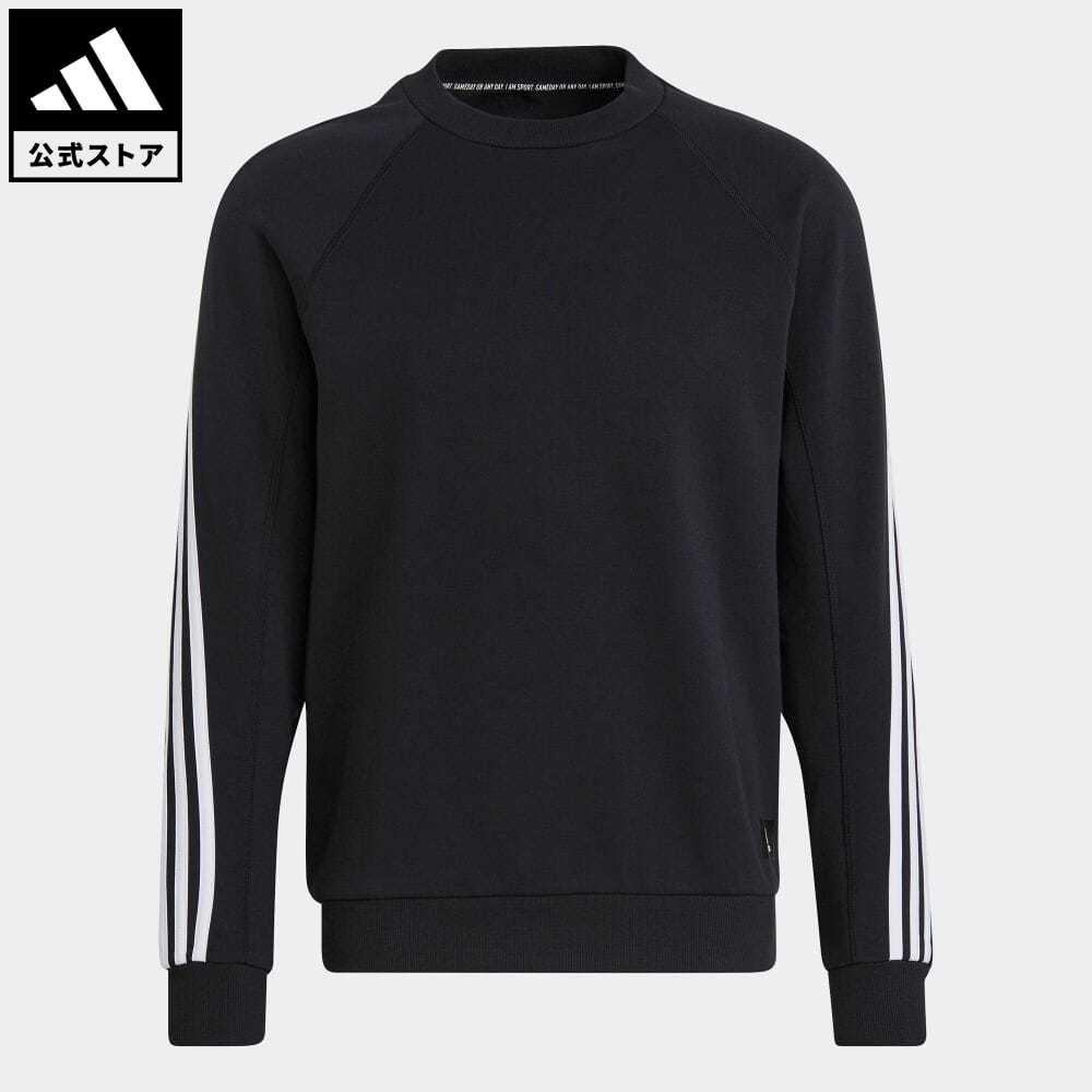 公式セール セール価格 スリー ストライプス 公式 アディダス adidas 返品可 スポーツウェア 3ストライプス スウェットシャツ Sportswear 黒 特売 3-Stripes 服 トレーナー GM6463 格安店 スウェット ウェア Sweatshirt ブラック アスレティクス トップス メンズ