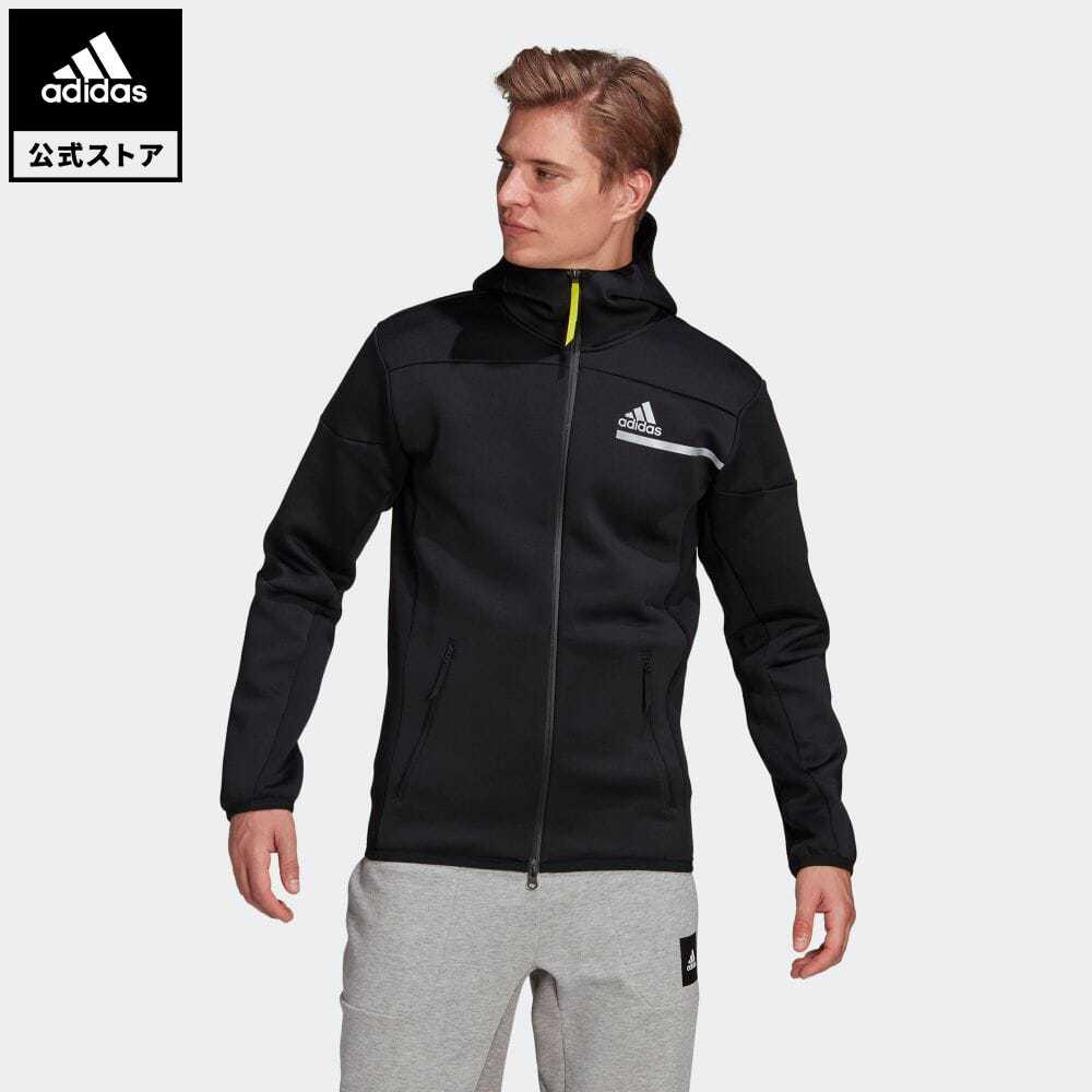 【送料無料】公式セール セール価格 FUTURE OF SPORTSWEAR Z.N.E. 【公式】アディダス adidas 返品可 M adidas Z.N.E. IIM フルジップフーディ アスレティクス メンズ ウェア・服 トップス パーカー(フーディー) ジャージ 黒 ブラック GP7838 トレーナー