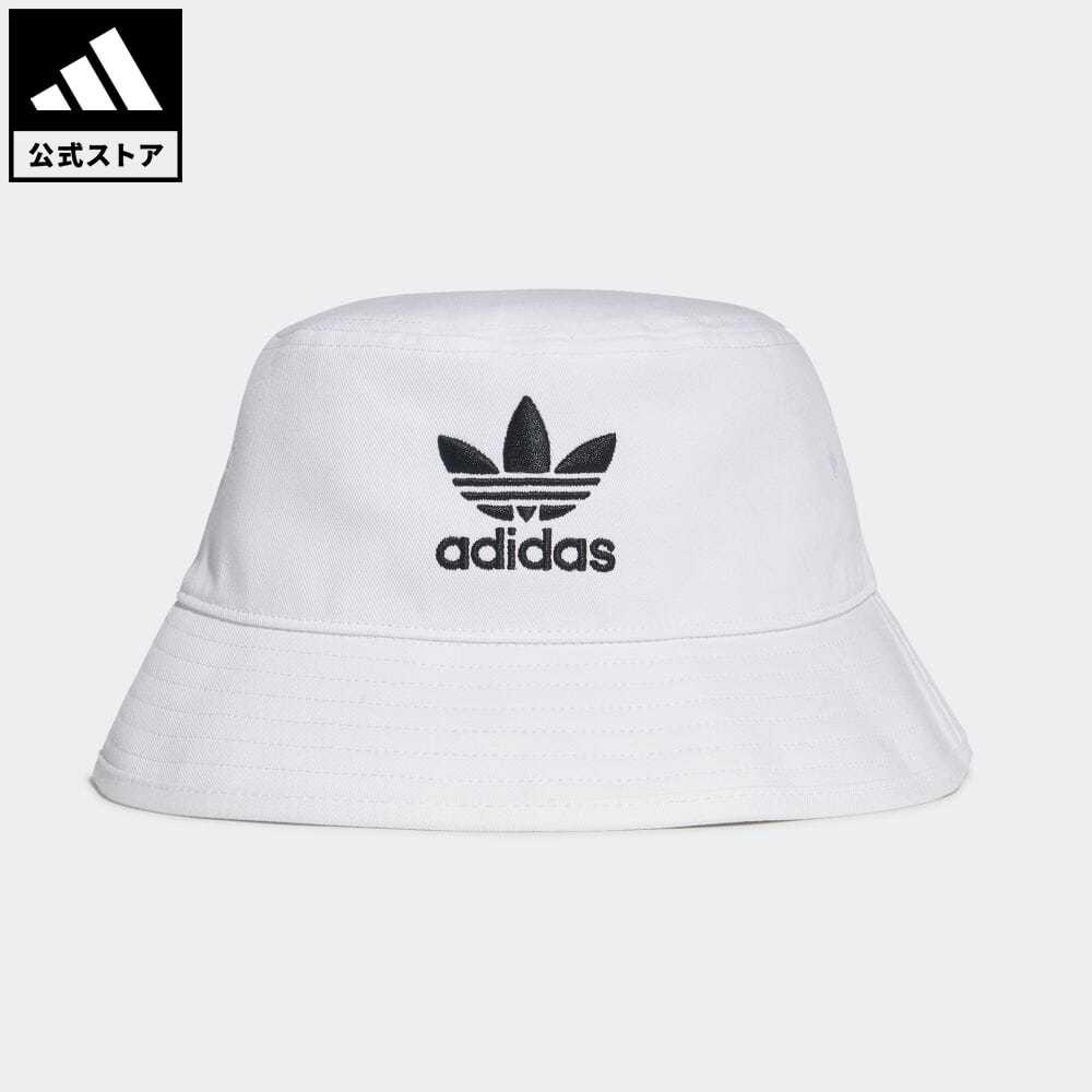 アディカラー 公式 アディダス adidas 返品可 オリジナルス ハット BUCKET HAT CORE ホワイト 帽子 白 推奨 バケツ帽 nm_otd FQ4641 レディース アクセサリー 保証 メンズ
