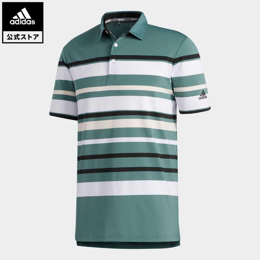 【送料無料】公式セール セール価格 アルティメット365 【公式】アディダス adidas 返品可 ゴルフ ULTIMATE365 ストライプド半袖ポロシャツ メンズ ウェア・服 トップス ポロシャツ 緑 グリーン FR1127 notp