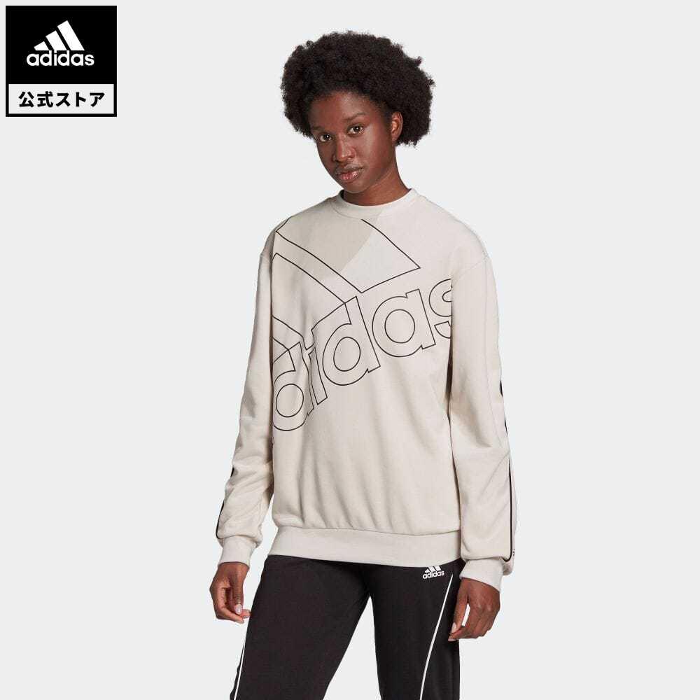 5☆大好評 公式セール エッセンシャルズ summersale0806 公式 アディダス キャンペーンもお見逃しなく adidas 返品可 ジャイアント ロゴ スウェット ジェンダーニュートラル Giant Gender walking_jogging ウェア レディース トレーナー Neutral Logo 服 Sweatshirt GL0531 ベージュ トップス