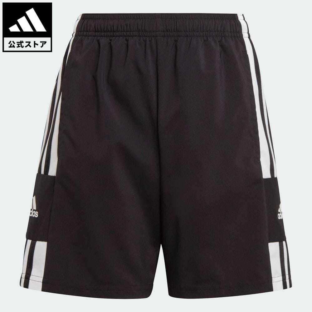 スクアドラ 公式 アディダス adidas 返品可 サッカー 21 代引き不可 ウーブンショーツ Squadra Woven Shorts ショートパンツ ボトムス GK9550 無料 黒 短パン ブラック ウェア 服 キッズ