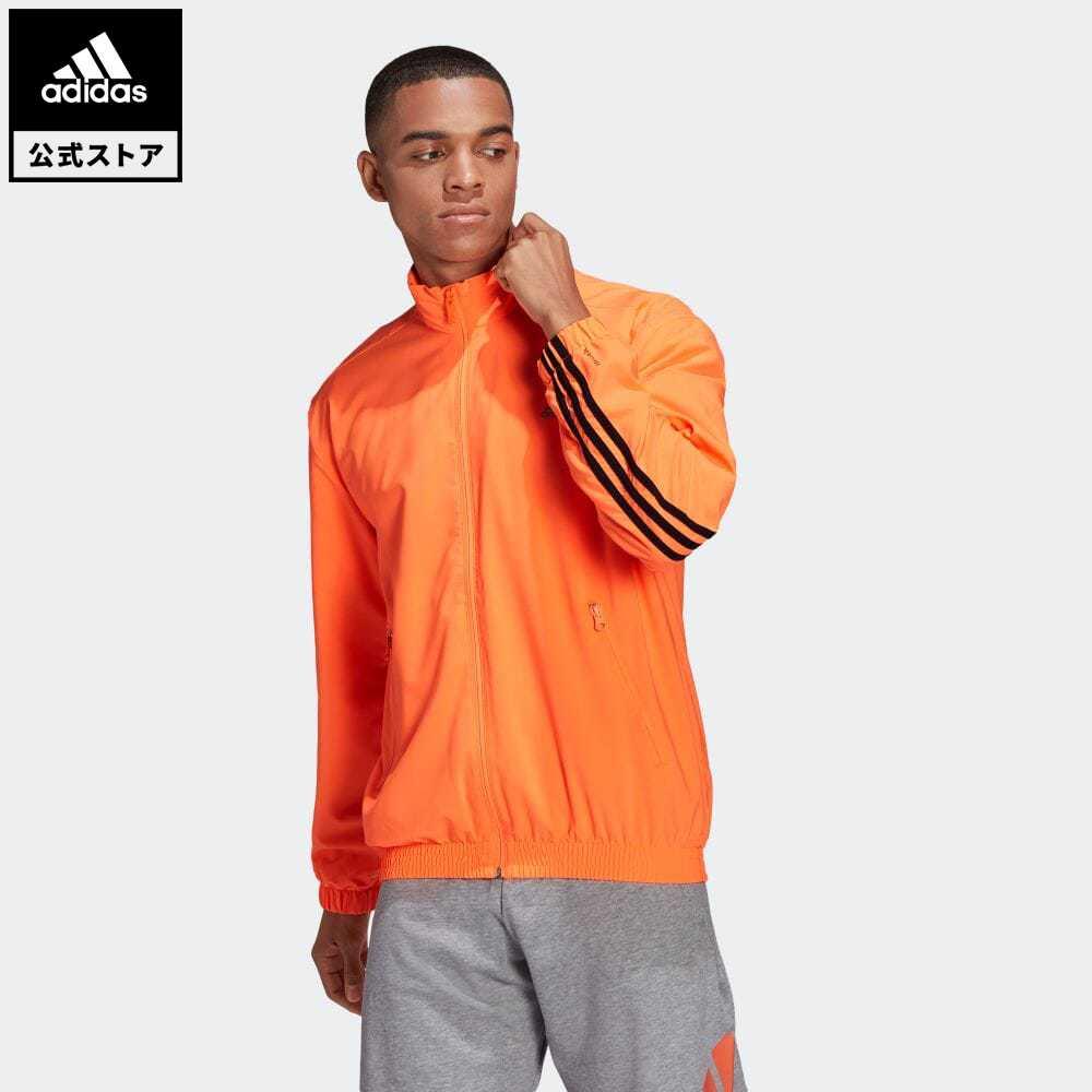 【送料無料】公式セール セール価格 スリー ストライプス 【公式】アディダス adidas 返品可 アディダス スポーツウェア ウーブン 3ストライプス トラックトップ / adidas Sportswear Woven 3-Stripes Track Top アスレティクス メンズ ウェア・服 トップス ジャージ オレンジ GL5681