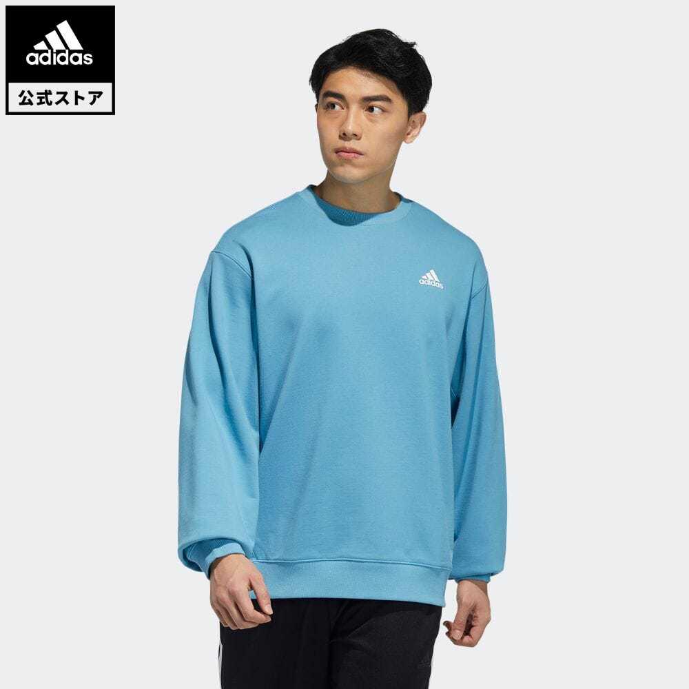 送料無料 公式セール セール価格 公式 アディダス adidas 返品可 バッジ 予約販売品 オブ スポーツ スウェットシャツ Badge of メンズ Sweatshirt トップス ウェア レディース H37069 ブルー トレーナー Sport スウェット 新色追加 青 アスレティクス 服