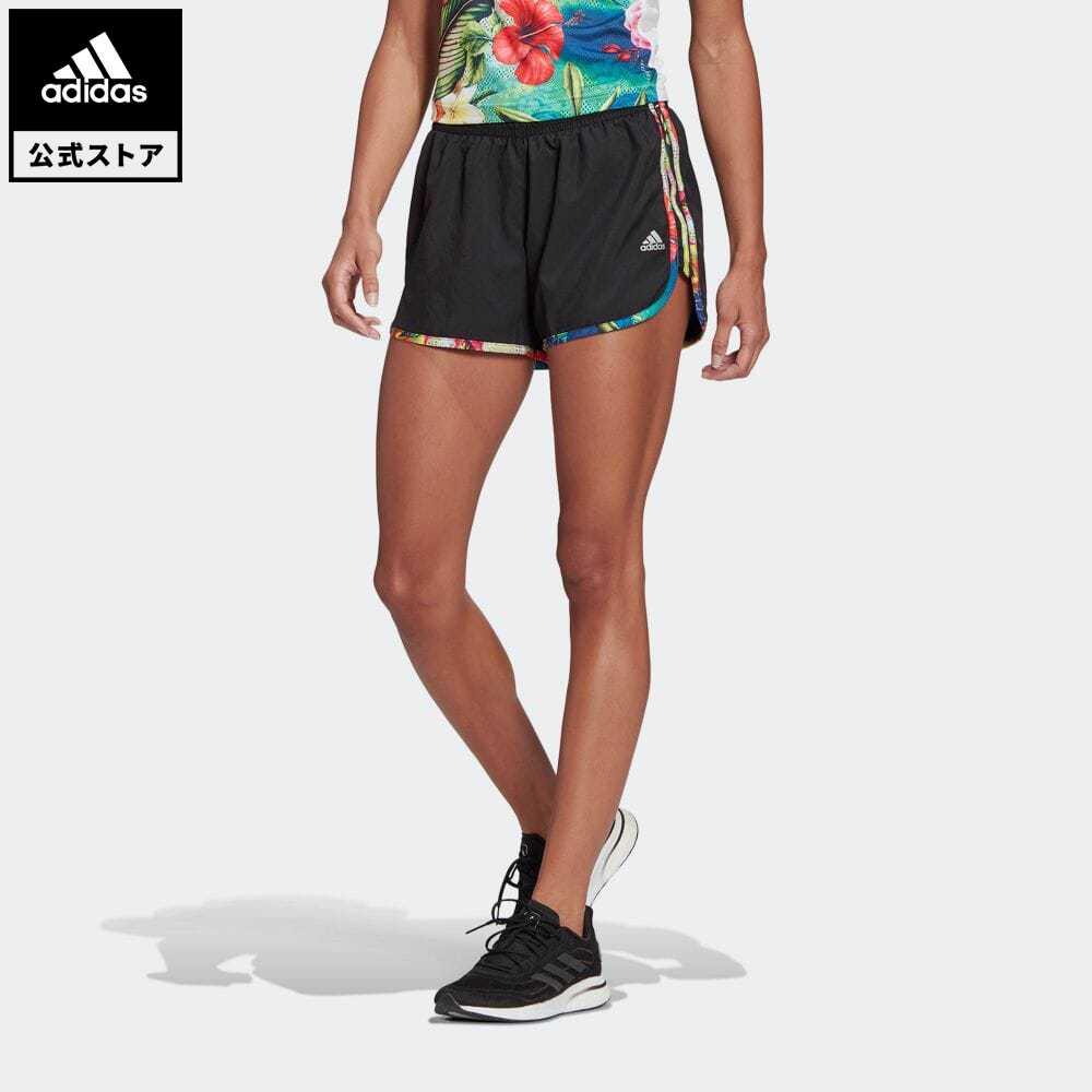 期間限定 さらに30%OFF 9 4 20:00~9 11 1:59 officialsale0904 贈呈 公式 アディダス adidas 返品可 ランニング フローラルショーツ Marathon GK6966 ランニングウェア 服 ハーフパンツ Floral 在庫処分 20 レディース ボトムス マラソン ウェア Shorts
