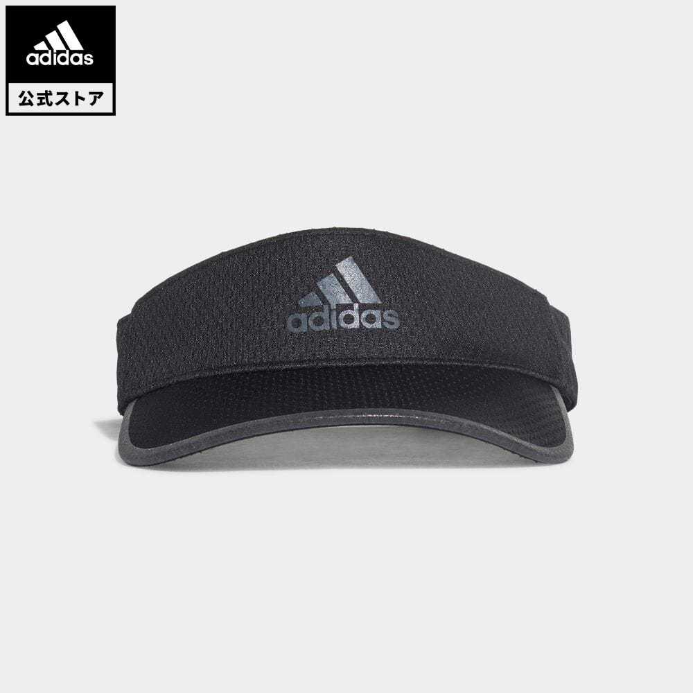【公式】アディダス adidas 返品可 ランニング AEROREADY ランナー バイザー / AEROREADY Runner Visor レディース メンズ アクセサリー 帽子 サンバイザー 黒 ブラック GM4523 サンバイザー