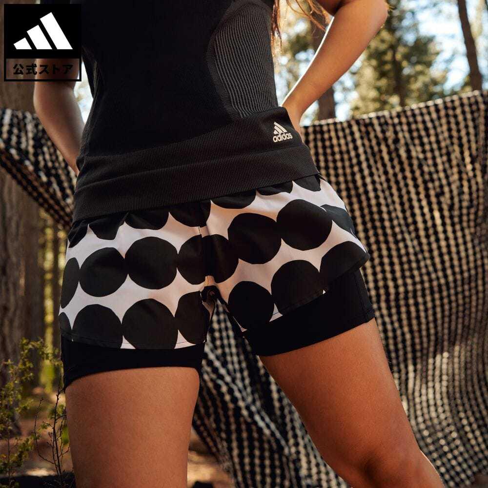 限定品 送料無料 Marimekko マリメッコ 公式 アディダス 販売期間 限定のお得なタイムセール adidas 返品可 ランニング × マラソン 20 ショーツ 黒 ウェア mss21fw walking_jogging ブラック ランニングウェア ハーフパンツ レディース ボトムス GU2526 服