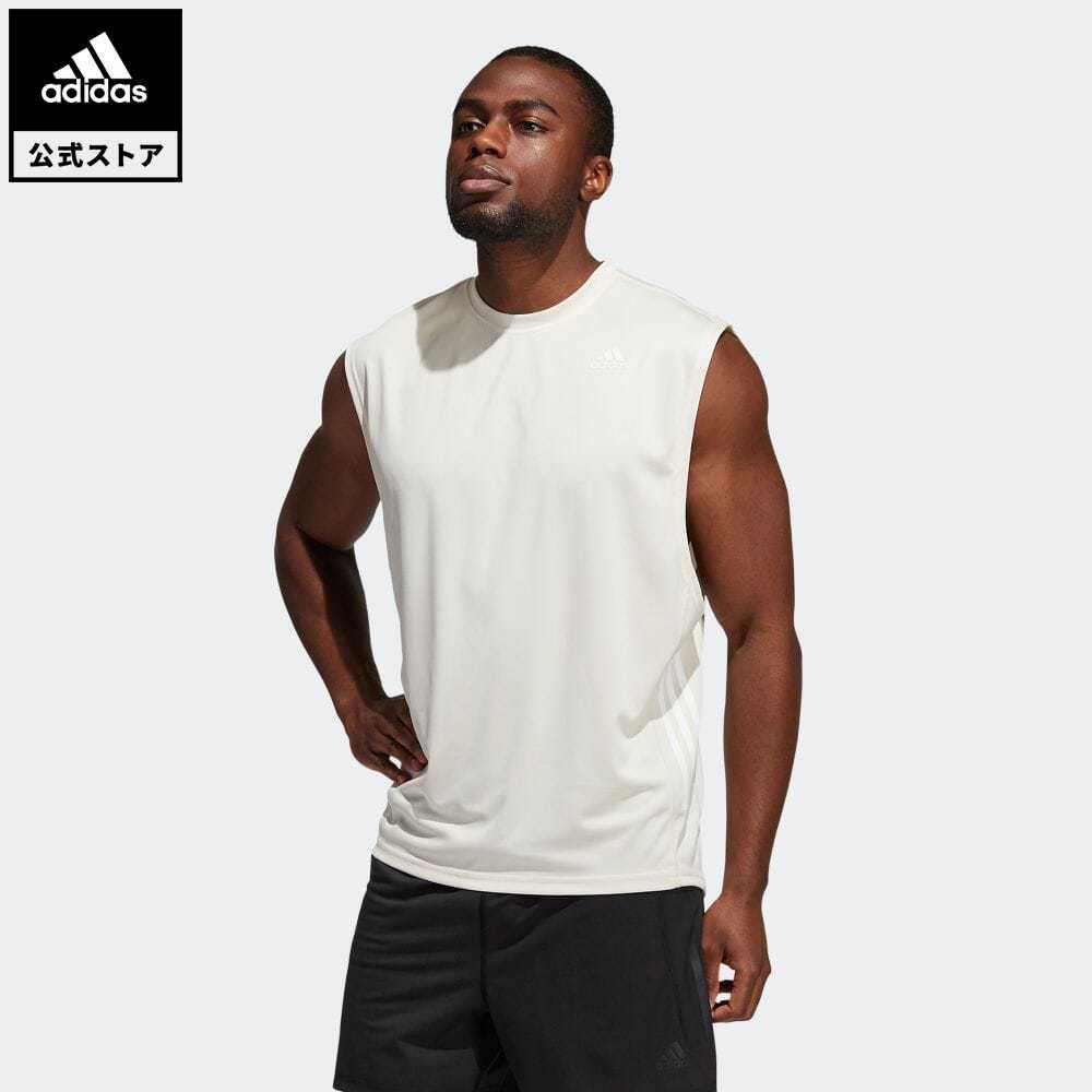 公式セール セール価格 公式 アディダス adidas 返品可 ジム トレーニング ヨガ マッスル mss21fw Tシャツ ホワイト ウェア 白 トップス セール 特集 服 メンズ ノースリーブ 新作入荷!! GS2684