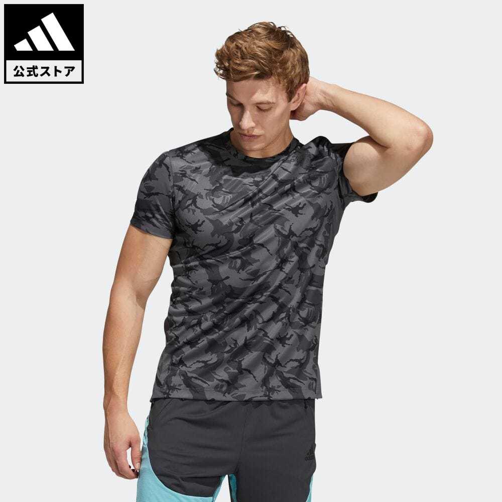 公式セール セール価格 公式 アディダス adidas 返品可 ジム トレーニング 与え カモ 半袖デイリーTシャツ H61587 mss21fw トップス Tシャツ 半袖 服 海外並行輸入正規品 グレー メンズ ウェア