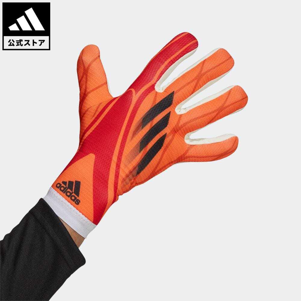 公式 アディダス adidas 品質保証 返品可 サッカー エックス トレーニンググローブ レディース メンズ GR1539 好評受付中 手袋 レッド グローブ アクセサリー キーパーグローブ 赤