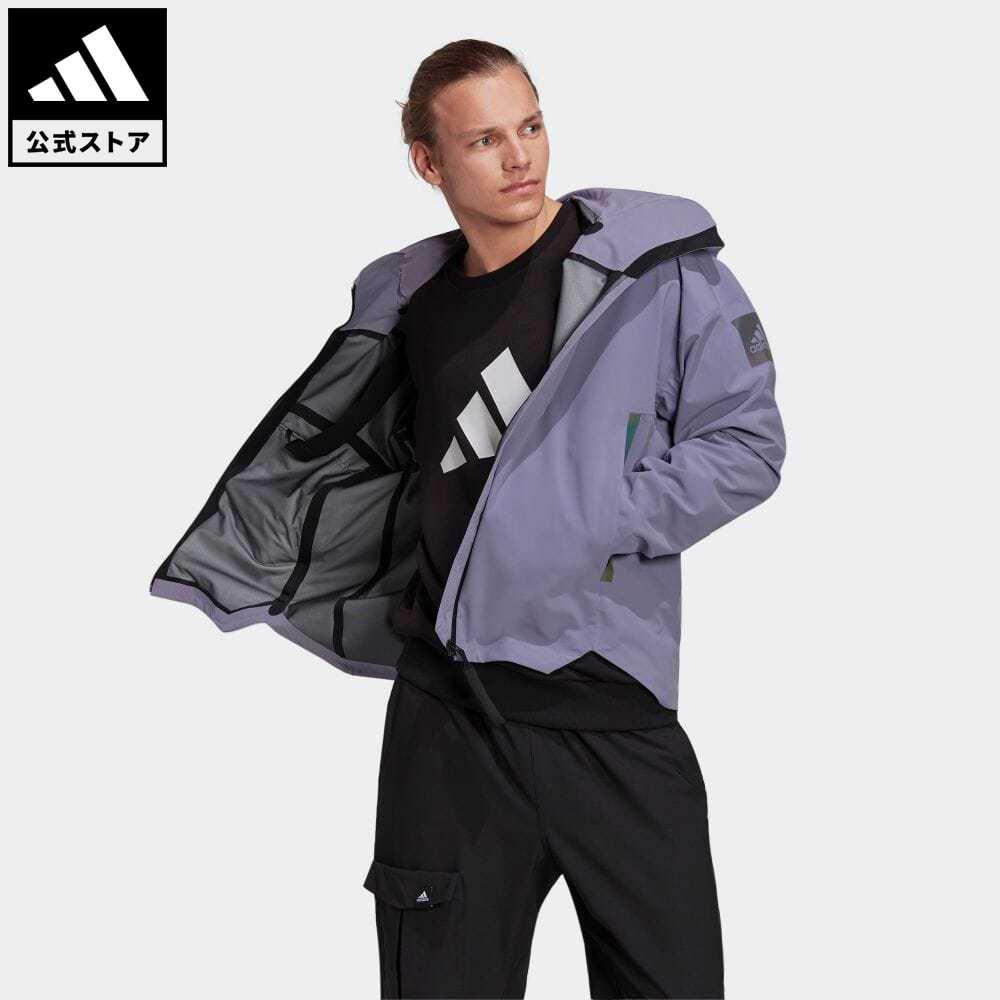 送料無料 マイシェルター 公式 アディダス adidas 返品可 アウトドア 配送員設置送料無料 レインジャケット メンズ 限定タイムセール ウェア GT6576 アウター 服 パープル ジャケット 紫 nm_otd