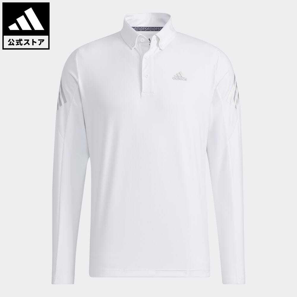 送料無料 公式 アディダス adidas 返品可 ゴルフ AERO.RDY ストレッチ長袖ボタンダウンシャツ 服 売却 白 GT3443 トップス ホワイト 売買 メンズ ポロシャツ ウェア