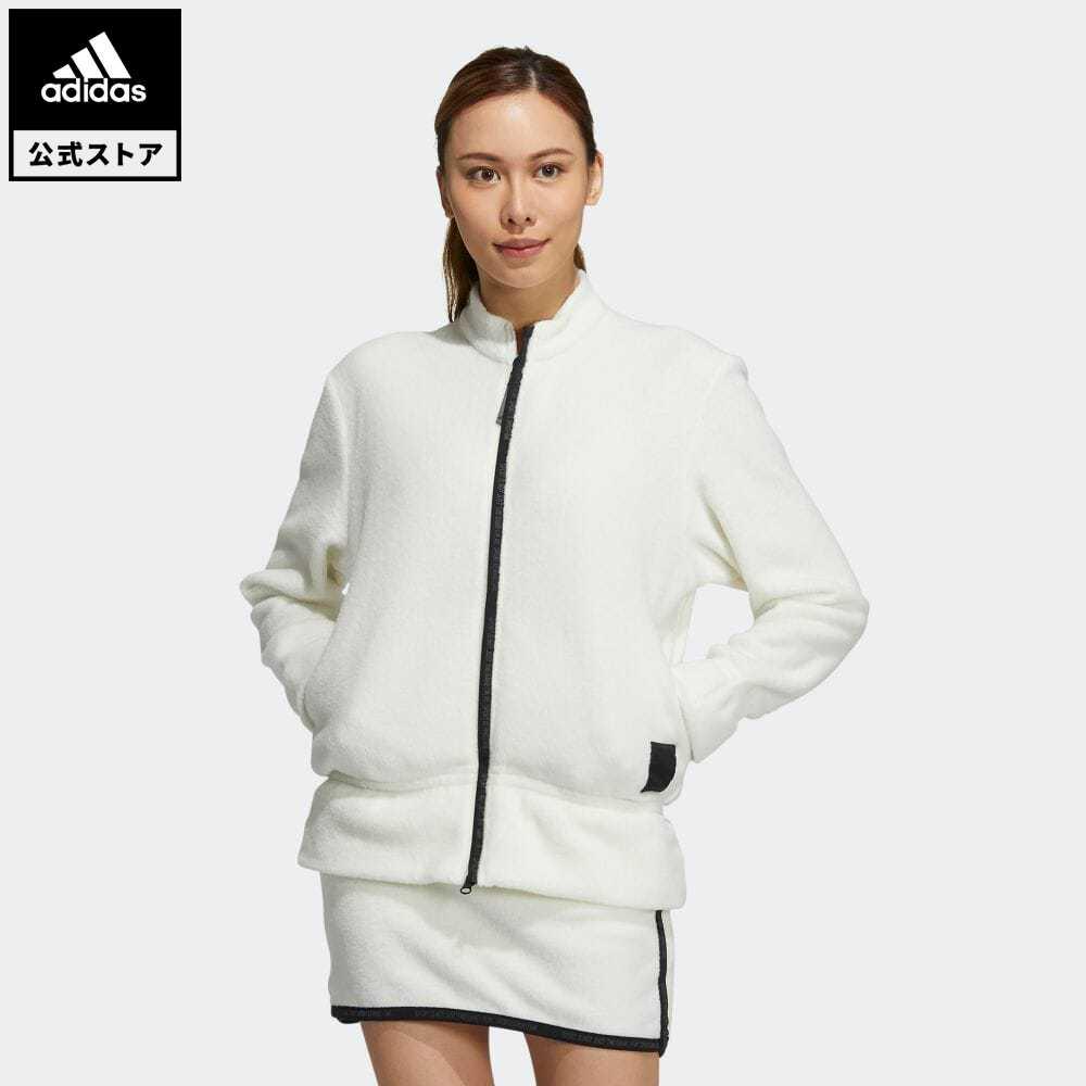 送料無料 公式 マーケット アディダス adidas 返品可 ゴルフ 定価 プライムグリーン フルジップ ストレッチフリースジャケット ジャケット 服 レディース GV3574 アウター ホワイト 白 ウェア