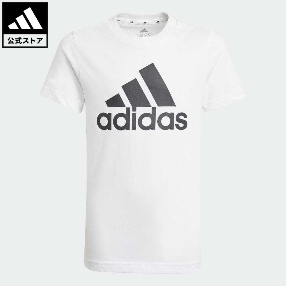 公式 アディダス adidas 限定特価 返品可 エッセンシャルズ 半袖Tシャツ アイテム勢ぞろい キッズ ウェア 白 Tシャツ ホワイト 服 トップス 半袖 GN3994