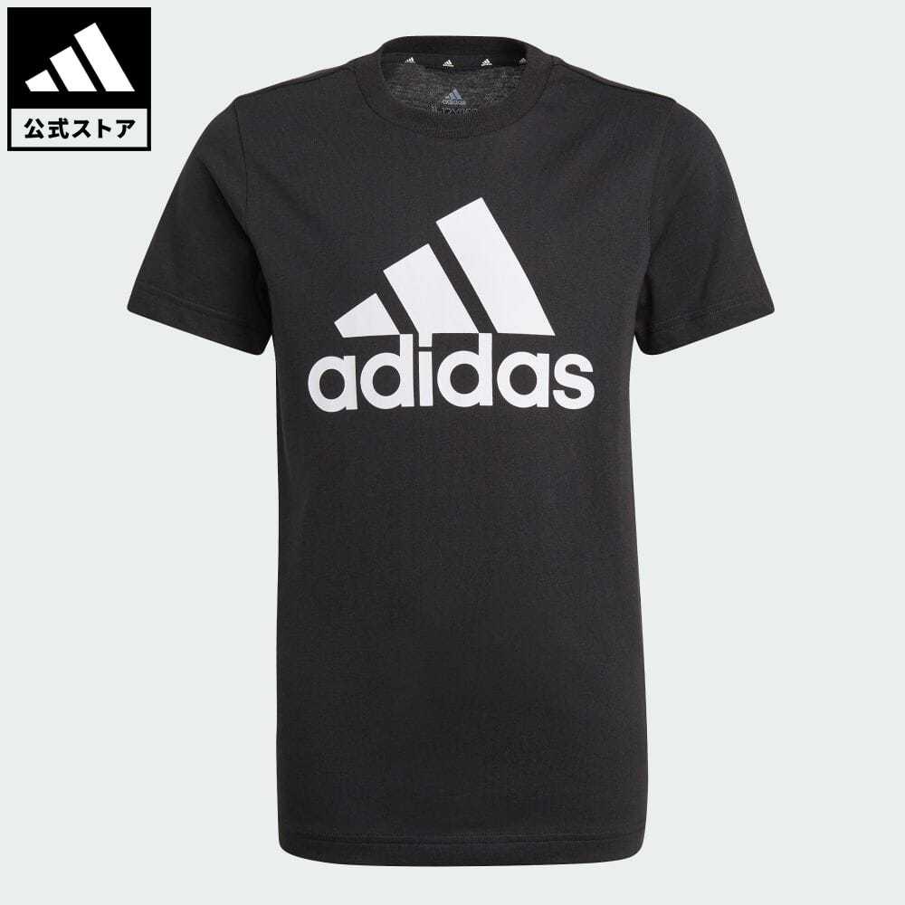 公式 アディダス adidas 返品可 エッセンシャルズ 半袖Tシャツ キッズ ウェア トップス 黒 服 半袖 GN3999 激安超特価 Tシャツ ブラック 激安 激安特価 送料無料