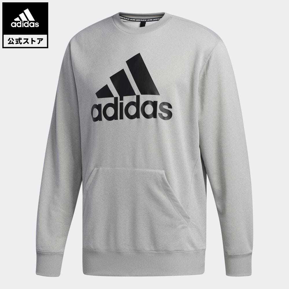 公式セール セール価格 マストハブ 【公式】アディダス adidas 返品可 マストハブ クルー スウェットシャツ / Must Haves Crew Sweatshirt メンズ ウェア・服 トップス スウェット(トレーナー) グレー FM5343