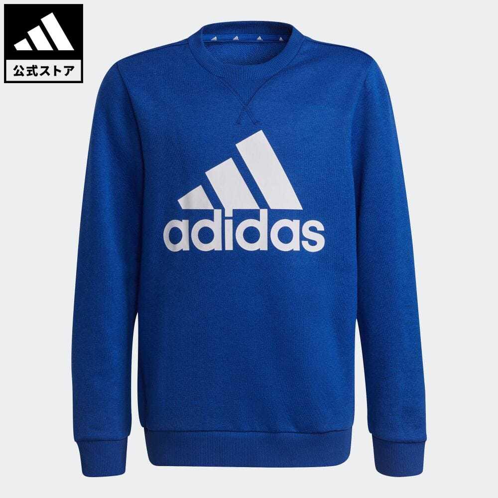 エッセンシャルズ 公式 引き出物 アディダス adidas 返品可 スウェット Essentials 記念日 Sweatshirt 青 ブルー トップス キッズ ウェア 服 GS4275 トレーナー