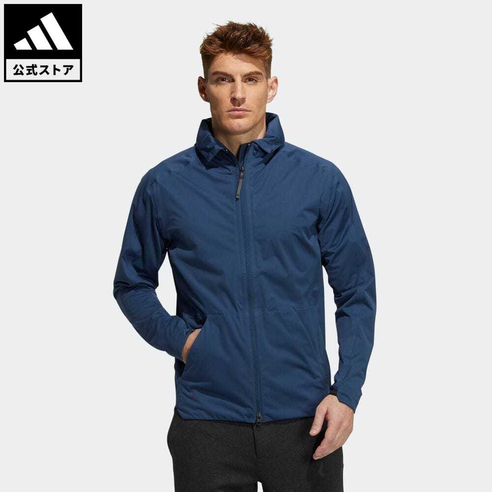 【送料無料】 【公式】アディダス adidas 返品可 ゴルフ WIND.RDY 長袖 フルジップジャケット メンズ ウェア・服 アウター ジャケット 青 ブルー GT3295