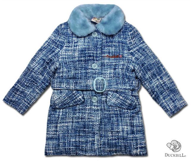 【子供服】ウォームリーファッション暖かボア襟のツイードコート(濠Du)子供 誕生日プレゼント 子ども 子供服 ブランド 上品 アドゥラブル