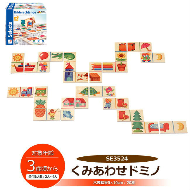 I present a child toy gift from selector company SELECTA combination  dominoes table game combination picture contest domino SE3524 rectangular  wooden