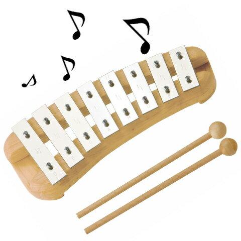 デコアの鉄琴・ペンタ・8音 誕生日 入園プレゼント 音色が綺麗な 本格打楽器 知育玩具 楽器玩具 楽器 おもちゃ 送料無料 de5700 鉄琴