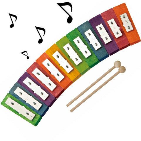 レインボーグロッケン・ダイヤ12音 入園祝い 入学祝い 音色が綺麗な 本格打楽器 知育玩具 楽器玩具 楽器 おもちゃ de5781