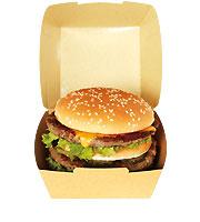 ハンバーガー用テイクアウト紙容器・紙箱 EC8 ファイン 600ヶ入【ポイント10倍/キャンペーン/ご奉仕】【あす楽対応】【HLS_DU】