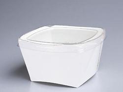 お弁当、お惣菜用容器 K-L 無地 600入(※透明蓋付)【あす楽対応】【HLS_DU】