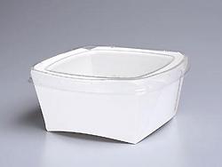 お弁当、お惣菜用容器 K-M 無地 600入(※透明蓋付)【あす楽対応】【HLS_DU】