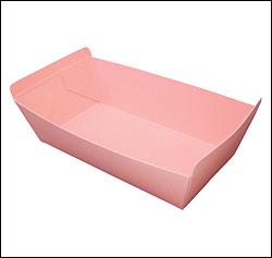 フルーツ紙トレー P-6(ピンク) 600ヶ入【あす楽対応】