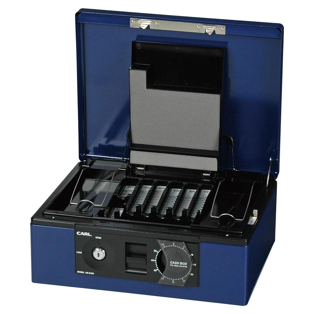 カール事務器 キャッシュボックス A4サイズ ブルー CB-8760MTO-B