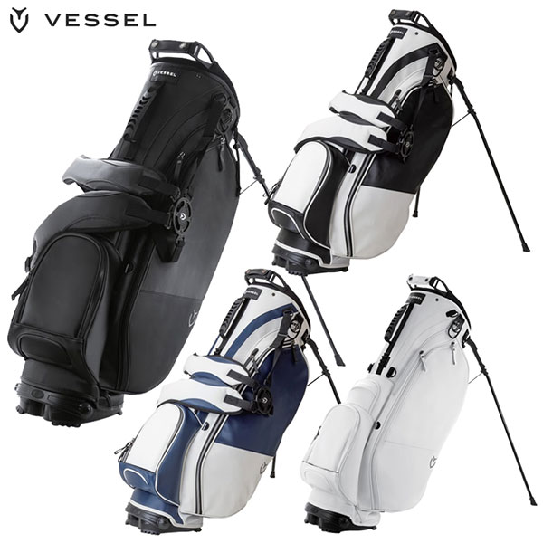 【2019年モデル】 朝日ゴルフ VESSEL(ベゼル)Player Stand Bag スタンドバッグ キャディバッグ 【smtb-ms】
