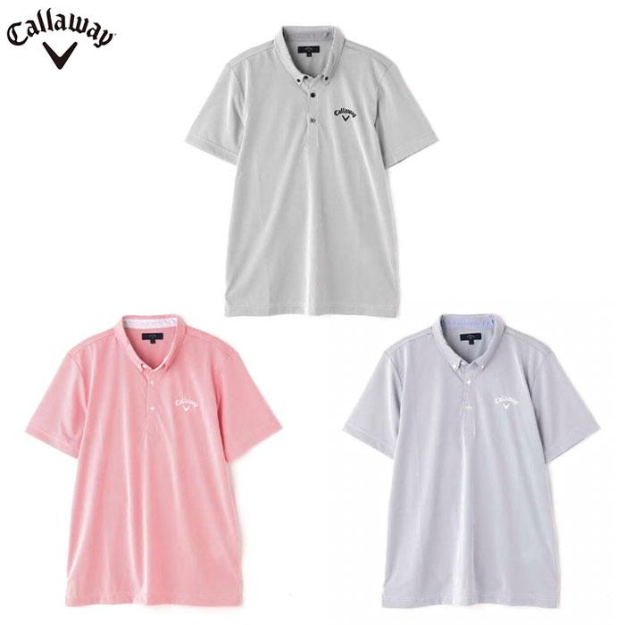 【一部即納】Callaway -キャロウェイ-コードレーン半袖ボタンダウンシャツ 【241-0134520】