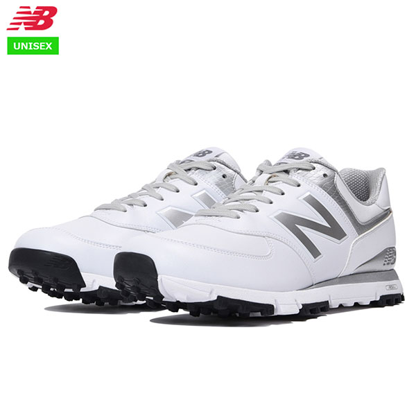 best service fcf82 fa54c NB - New Balance - MGS574 WS (white   silver) unisex golf shoes ...