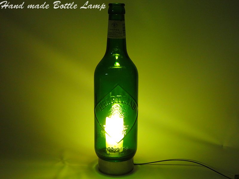 I Lamp Desk Led Outlet Interior Original Bottle The Family Table At For With Use Beer Handmade It E9D2IH