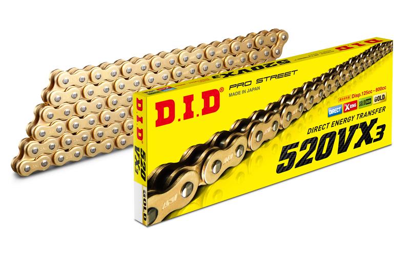 VXシリーズ チェーン 520VX3 ゴールド チェーンサイズ120リンク