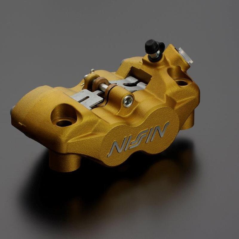 ADVANTAGE NISSIN アドバンテージ ニッシン ラジアルフィット レーシング・ブレーキキャリパー4POT RADIALFITキャリパー(GOLD・R) 2PAD