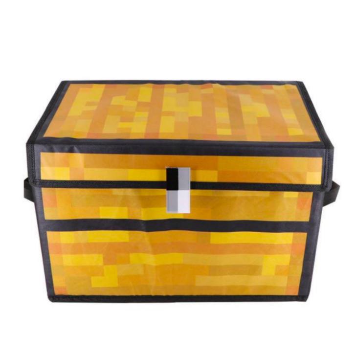 おしゃれ 楽しい お得 生活 いかがでしょうか ふた付収納ケース 5☆大好評 おもちゃ入れ 簡易整理箱 マイクラフト風チェスト Minecraft風お宝箱