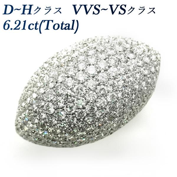 【ご注文後5%OFF】ダイヤモンド リング 6.21ct(Total) VVS~VSクラス-D~Hクラス-ラウンドブリリアントカット K18 18金 イエローゴールド ホワイトゴールド ゴールド 6ct 6カラット ダイヤモンド ダイヤモンドリング パヴェ パベ ダイヤ 指輪 ダイヤリング
