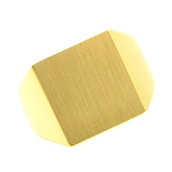 【ご注文後5%OFF】メンズリング 印台(正角) - K18 18金 イエローゴールド 指輪 メンズ mens 男性 リング ring mensring