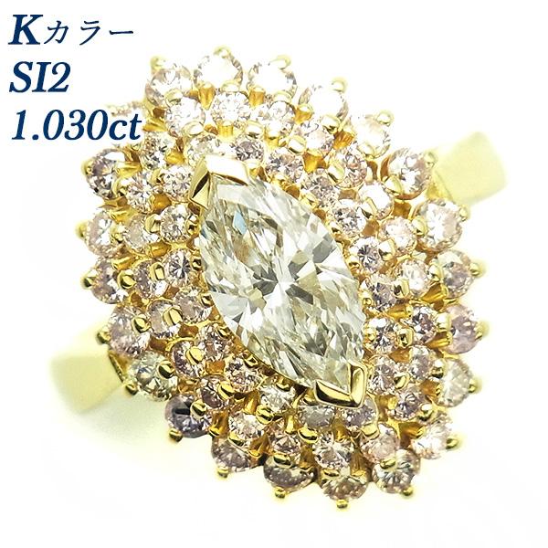 【ご注文確認後3%OFF】ダイヤモンド リング1.030ct SI2-K 脇石 1.26ct(Total) Pt 鑑定書付