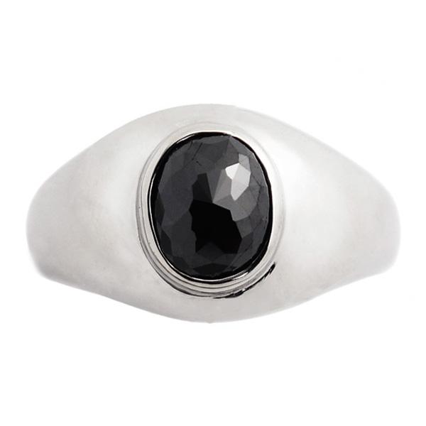 【ご注文後5%OFF】ブラックダイヤモンド メンズリング 1.0~2.5ct --オーバルローズカット Pt ブラック ダイヤモンド 1ct 1カラット 2ct 2カラット 2.5ct 2.5カラット プラチナ ブラックダイヤ 黒ダイヤ リング 指輪 mens メンズリング メンズジュエリー