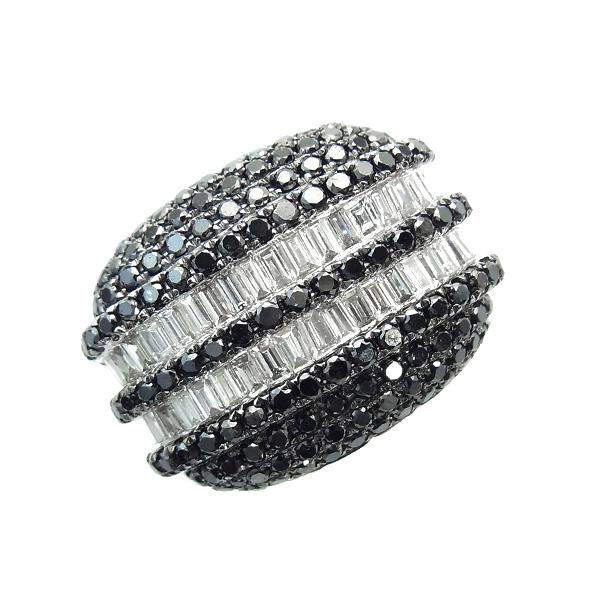 【ご注文後5%OFF】ダイヤモンド ブラックダイヤモンド リング 1.95ct(Total) - K18WG 18金 ホワイトゴールド ゴールド 1ct 1カラット 2ct 2カラット ダイヤモンドリング ダイヤリング ダイアモンドリング ダイアモンド