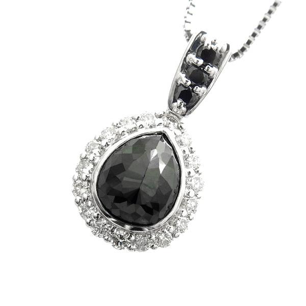 【ご注文確認後3%OFF】ブラックダイヤモンド ネックレス 2.452ct --ローズカット Pt ネックレス プラチナ PT ブラックダイヤ ブラックダイア 黒ダイヤ ダイヤモンドネックレス ダイアモンド ダイヤネックレス ダイア ダイヤ ダイヤモンドペンダント ペンダント
